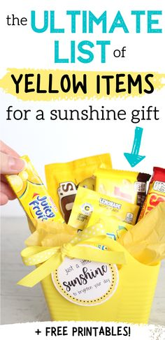 Cheer Up Gifts, Diy Gifts For Friends, Best Friend Gifts, Gifts For Couples, Cheer Gift Bags, Bag Of Sunshine, Basket Of Sunshine, Cheer Up Basket, Easy Gifts