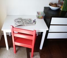 DIY kid's table and chair