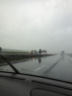 De weg er naar toe begon met regen...15-06-2013