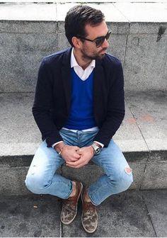 ネイビージャケットの着こなし・コーディネート一覧【メンズ】 | Italy Web