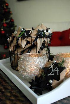 DIY advent calendar 5 ways: inside a wire basket. Calendario de adviento diy   Casa Haus