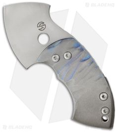 "TuffKnives War Toad Friction Folder Knife Full Ti (2.1"" Plain)"