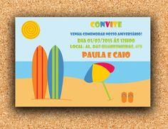 Arte Convite Praia (digital)