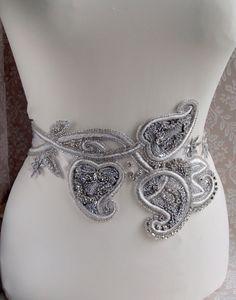 Hey, I found this really awesome Etsy listing at https://www.etsy.com/listing/150702889/art-deco-inspired-wedding-bridal-sash