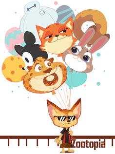 Disney - Zootopia -「Hydrogen balloon」/「无良团子」のイラスト [pixiv]
