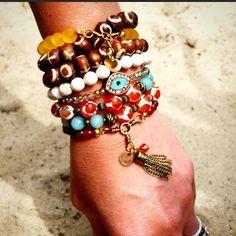 Stretch bracelets // arm party //