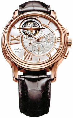 Limited Edition – Zenith Academy Tourbillon – Automatic Chronograph - 18.1260.4005/02.C505 – Free Overnight Shipping – Solid Rose Gold