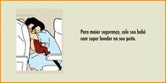 Humor: Releitura de instruções de segurança