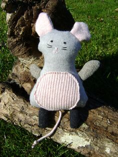 Upcycled Wool Sweater Mouse by artisaninthewoods on Etsy, $22.00