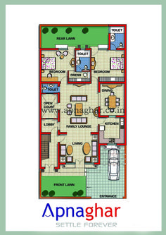 Looking for Floor Plan as per  Vastu? Visit - www.apnaghar.co.in