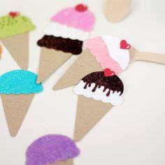 Paper Punch Ice Cream Cones | Damask Love