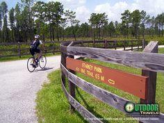 Biking the Starkey Trail, Pasco County near Tampa, Florida