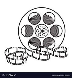 17 Film Reel Png White Sketch Film Reels Film Vintage Film Reel