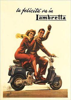 Lambretta Scooter Spares - Model B Poster Mod Scooter, Lambretta Scooter, Scooter Girl, Moto Guzzi, Royal Enfield, Vintage Ads, Vintage Posters, Vintage Vespa, Ducati