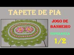 Tampa do Vaso Jogo de Banheiro Esperanza 2/2 por Wilma Crochê - YouTube