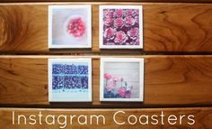 {Instagram Coasters // DIY} Mod Podge, photos, Clear Sealer, Scissors and Felt is all it takes.