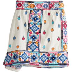CALYPSO St. Barth Tabarja Embellished Cotton Short ($195) ❤ liked on Polyvore featuring shorts, cocnutcc, sequin shorts, embellished shorts, cotton shorts, embroidered shorts and floral printed shorts