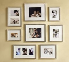 Spiral: Start with a center frame, and spiral out the rest of your frames from there.