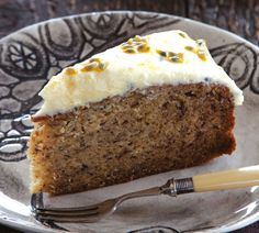 The Ultimate Banana Cake with Passionfruit Honey Frosting