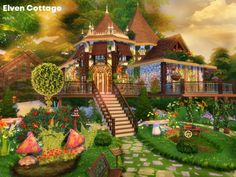 Elven Cottage by Cross Architecture for The Sims 4