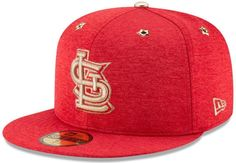 fe999a3fd53 St. Louis Cardinals New Era 5950 MLB Red Gold All-Star Game Fitted Hat SZ 7  3 8