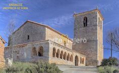 Iglesia románica de San Miguel Arcángel, Andaluz, provincia de Soria Romanesque Architecture, Masonic Symbols, Iglesias, Scenery, Mansions, History, House Styles, World, Temples