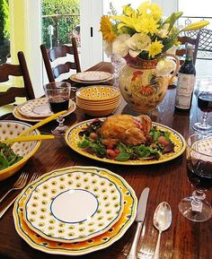 Provence Yellow dinnerware from Le Cadeaux