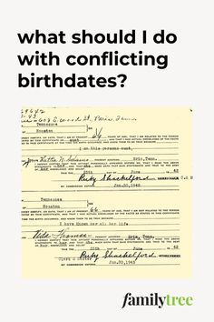 Conflicting birth dates can be especially difficult to resolve. Here is a case study and tips from genealogy expert Sunny Morton. Genealogy Research, You Lied, Problem Solving, Case Study, Dates, Birth, Knowledge, How To Plan, Sayings