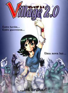 """A capa da minha história """"Village 2.0""""! A história completa você confere aqui: http://tapastic.com/series/Village20-portugues"""