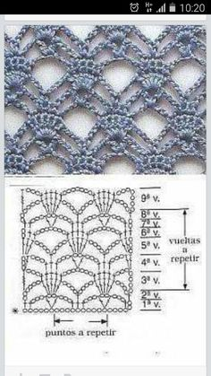 #haken, gratis teltekening, haakschema, steek, techniek, shawl, #crochet, free chart, diagram, stitch, technique