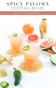 Spicy Paloma Cocktail Recipe #SipsForSummer
