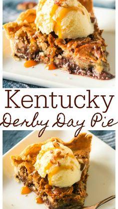 Kentucky Derby Pie, Bourbon Kentucky, Kentucky Mule, Kentucky Food, Louisville Kentucky, Köstliche Desserts, Dessert Recipes, Recipes Dinner, Chocolate Desserts