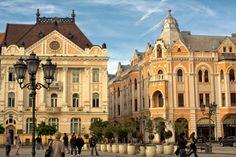 Beautiful town square of Novi Sad, Serbia