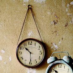 Rustic Metal Wall Clocks - Hanging