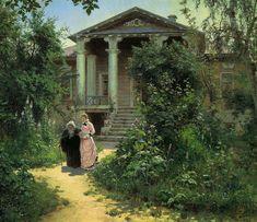 Grandma's garden, 1878, Vasily Polenov. #russia #art #drawing #polenov