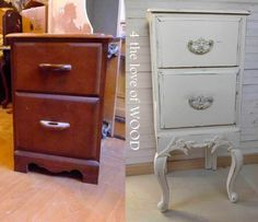 LADIES FRENCH NIGHTSTAND - before and after