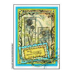 Crafty Individuals CI-185 - 'Tall Wild Flowers' Art Rubber Stamp, 77mm x 95mm - Crafty Individuals from Crafty Individuals UK