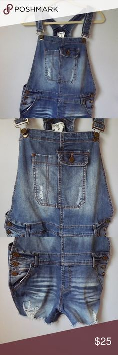 415282e331 42 Best Overall shorts images in 2017 | Denim overall shorts, Casual ...