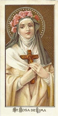 Religious Tattoos, Religious Art, St Rose Of Lima, Pope Pius X, Dominican Order, Vintage Holy Cards, Create Invitations, Catholic Saints, Mirror Image