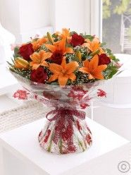 Flower Delivery Ireland and Dublin from Flowers. Send flowers with Flowers. Send Flowers Online, Autumn Rose, Asiatic Lilies, Fall Bouquets, Local Florist, Flower Delivery, Lily, Table Decorations, Birthday