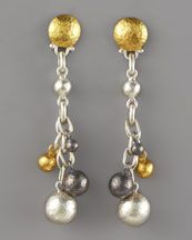 gold silver and oxidized drop
