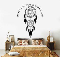 Vinyl Wall Decal Dreamcatcher Dream Catcher Bedroom Decor Stickers (ig3378)