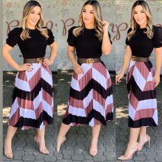 Blue Skirt Outfits, Cute Dress Outfits, Modest Outfits, Classy Outfits, Modest Fashion, Cute Dresses, Girl Outfits, Fashion Dresses, Modest Wear