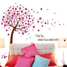 Beautiful Tree with Flowers for Nursery and Children Room Decor, 2 colors