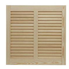 "Shutters By Design 100"" W Pine Bermuda / Bahama Shutter Size: 60"" H x 100"" W"