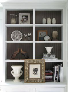 Shelf styling.