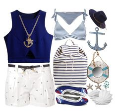 """""""Ahoy!"""" by shyyypieee ❤ liked on Polyvore featuring Morgan, Funtasma, BAGGU, Mikoh, Minor Obsessions, La Perla, Dot & Bo, Volcom, Privilege and Stratton Home Décor"""