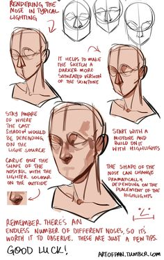 "artofpan: "" Whoo, super long nose tutorial! I'm sure there's heaps I didn't mention in this but this is generally how I approach it - the main thing is to check out references and try and draw..."