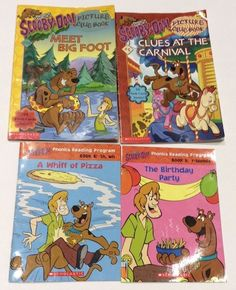 Lot of 4 Scooby-Doo Reader Books Children's Level 1 and phonics paperbacks  | eBay