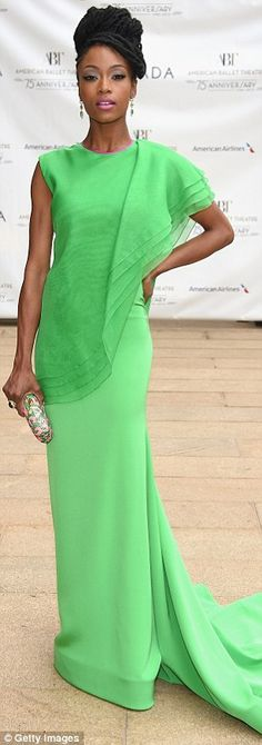 Yaya DaCosta, 75th Anniversary Diamond Jubilee at the Metropolitan Opera House, New York City, May 2015